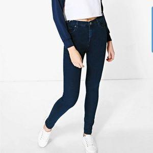Boohoo Abby 5-Pocket High Rise Skinny Jeans